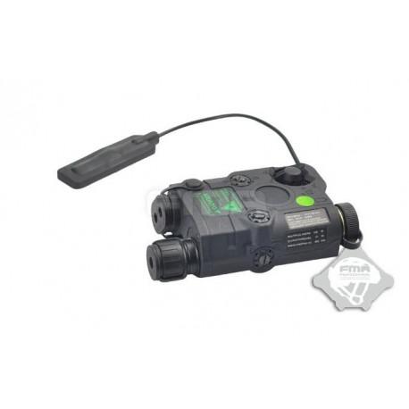 An Peq Laser verde + linterna upgraded - Negro