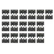 Kit 16 piezas panel para rail, negro