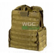 Chaleco Force Recon marron coyote, talla S