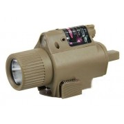 Linterna LED M6 con Laser Rojo TAN