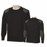 Jersey Negro Cuello de caja